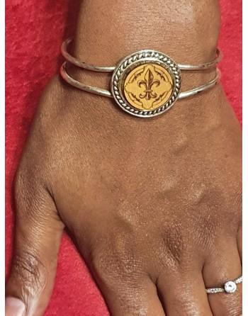 Bracelet fantaisie - Lys écu