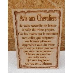 Avis aux Chevaliers