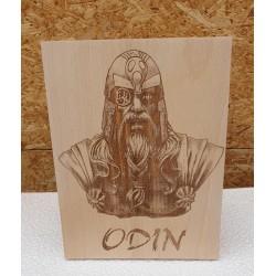 Plaque pyrogravée Odin
